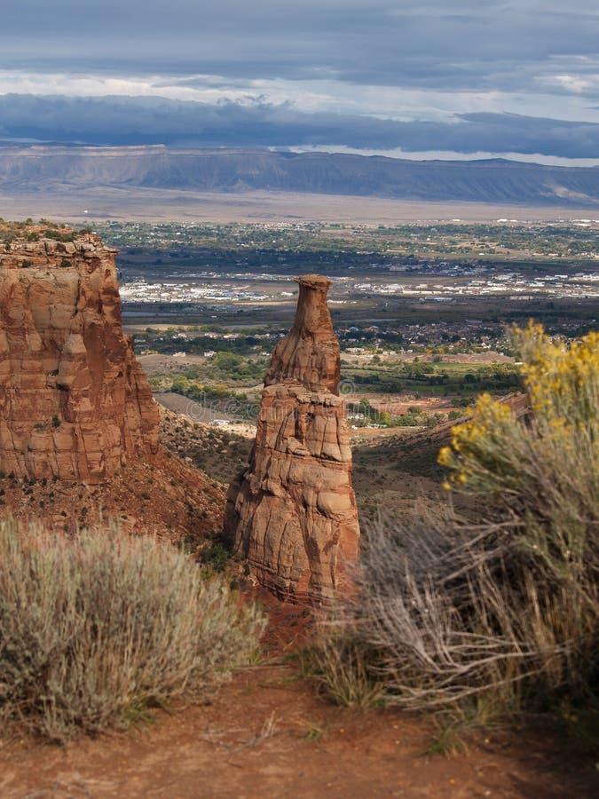 Monumento nacional de Colorado foto de stock