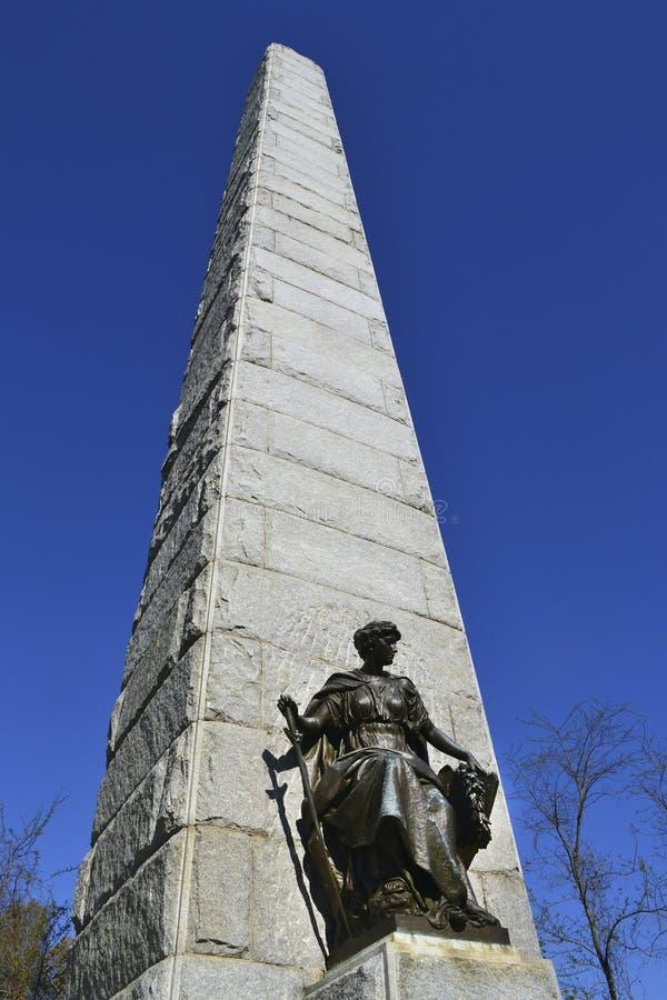 Monumento nacional de Minnesota do campo de batalha de Vicksburg foto de stock