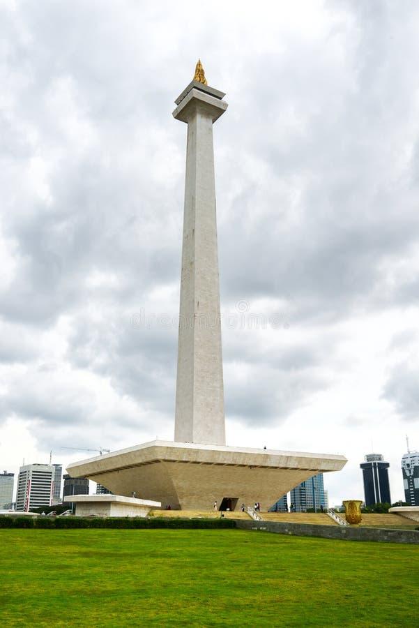 Monumento nacional de Monas, Jakarta central, Indonésia imagem de stock royalty free
