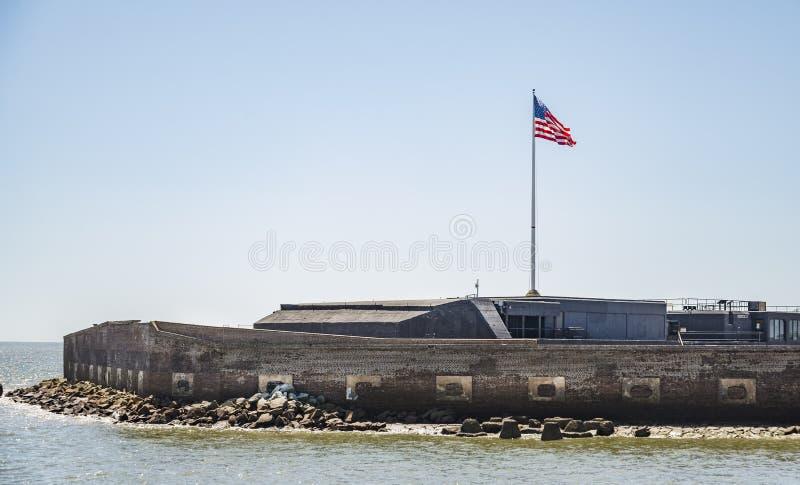 Monumento nacional de Sumter do forte em SC de Charleston, EUA imagem de stock royalty free