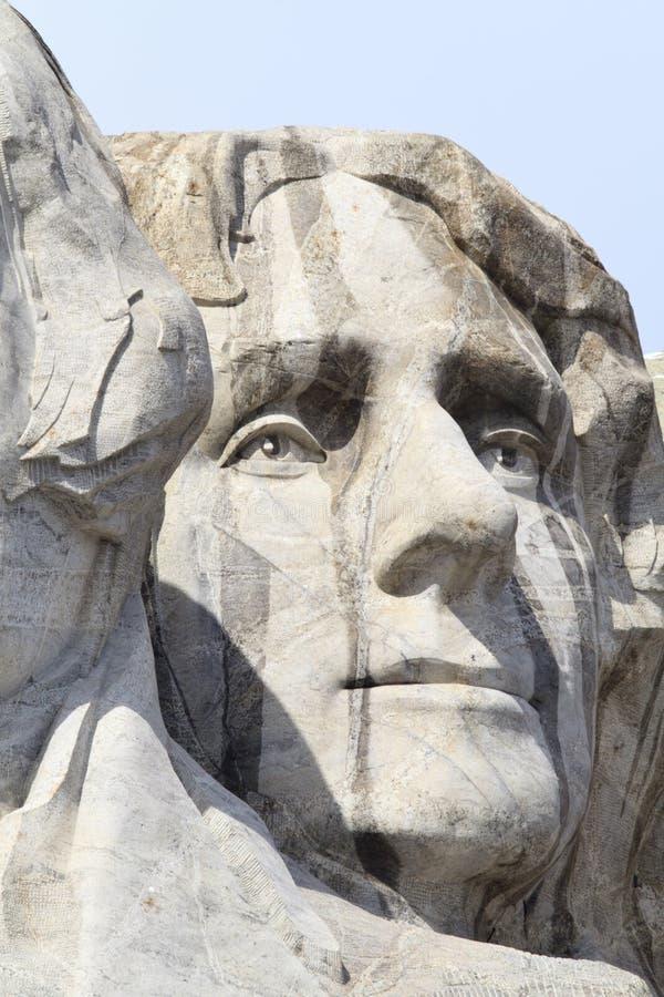 Monumento nacional del monte Rushmore con Thomas Jefferson foto de archivo libre de regalías