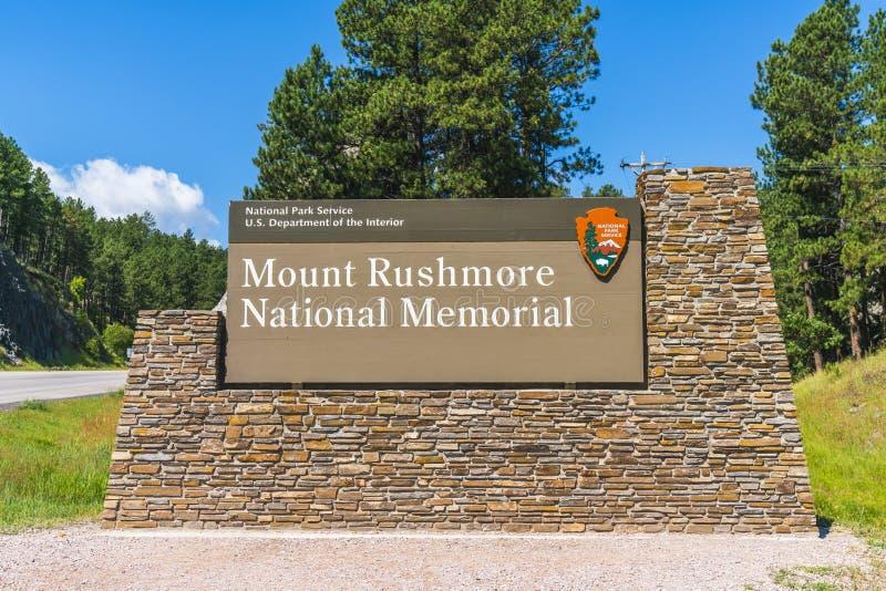 Monumento nacional del monte Rushmore, Dakota del Sur, los E.E.U.U. 07-28-17: MES imagen de archivo libre de regalías