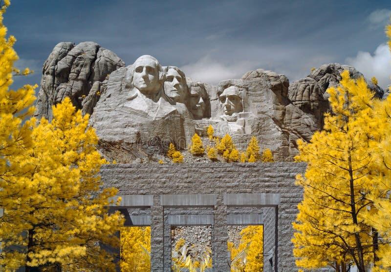 Monumento nacional del monte Rushmore, infrarrojo Dakota del Sur imagenes de archivo