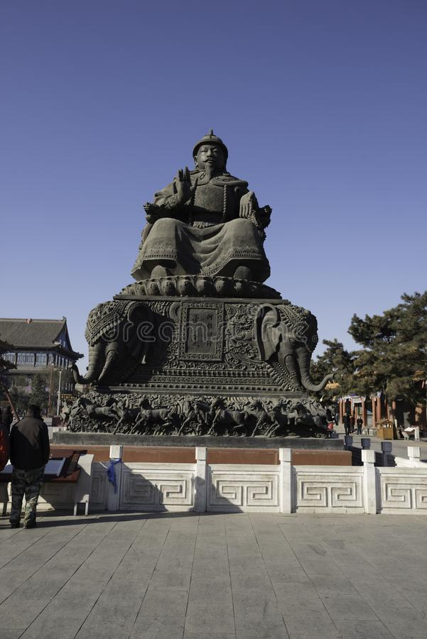 Monumento nacional do dia de Ghengis Khan Statue Hohhot fotografia de stock royalty free