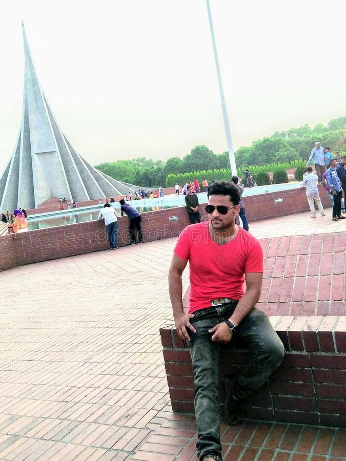 Monumento nacional em Bangladesh fotografia de stock royalty free