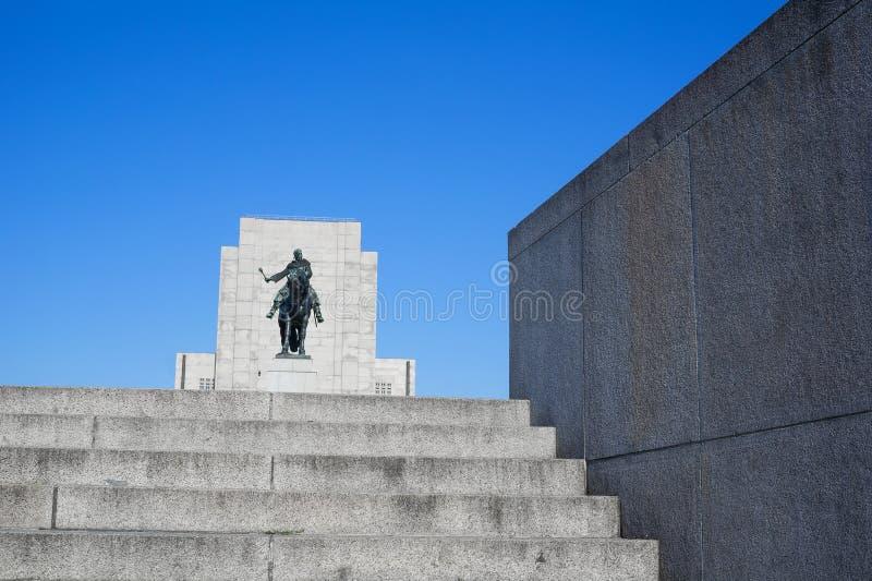 Monumento nacional en Vitkov, Praga fotos de archivo