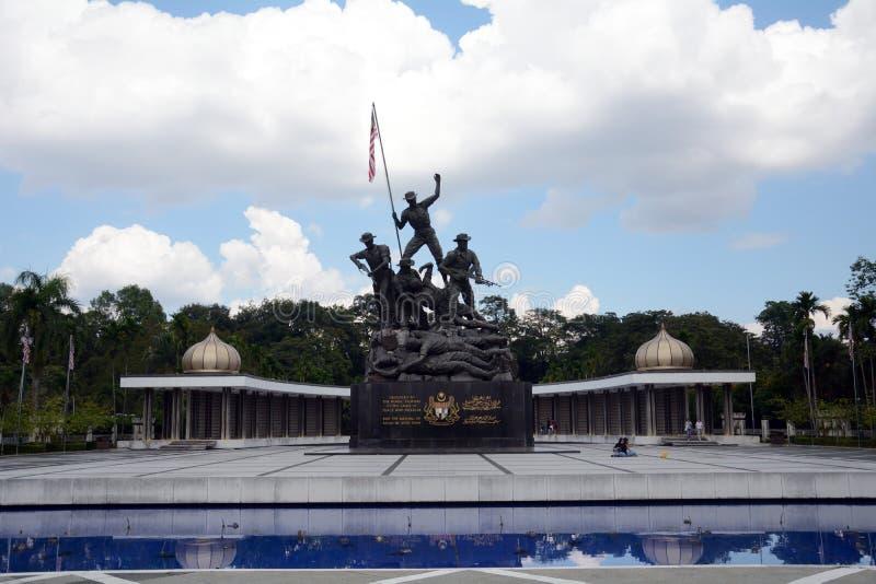 Monumento nacional, Kuala Lumpur, Malaysia imagem de stock