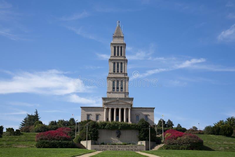 Monumento nacional masónico de George Washington imagenes de archivo