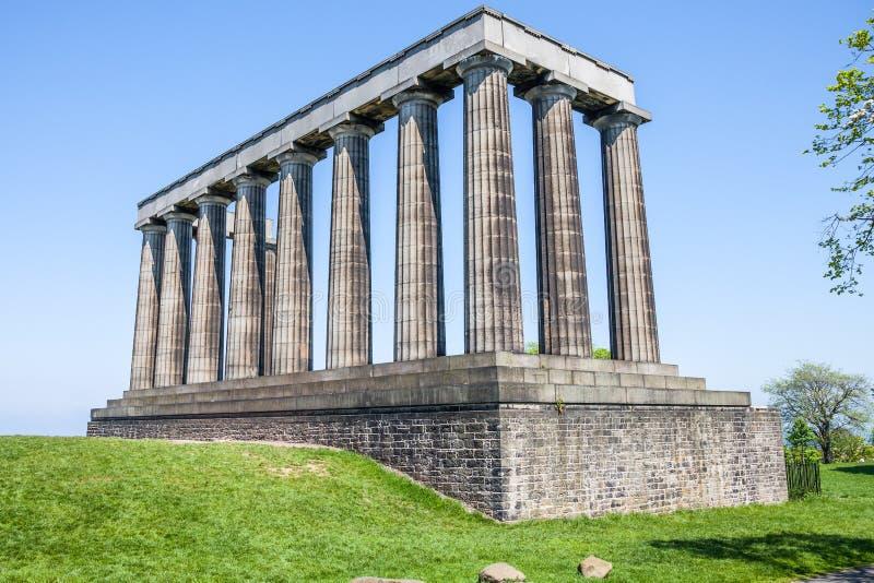 Monumento nacional no monte de Calton, Edimburgo imagem de stock