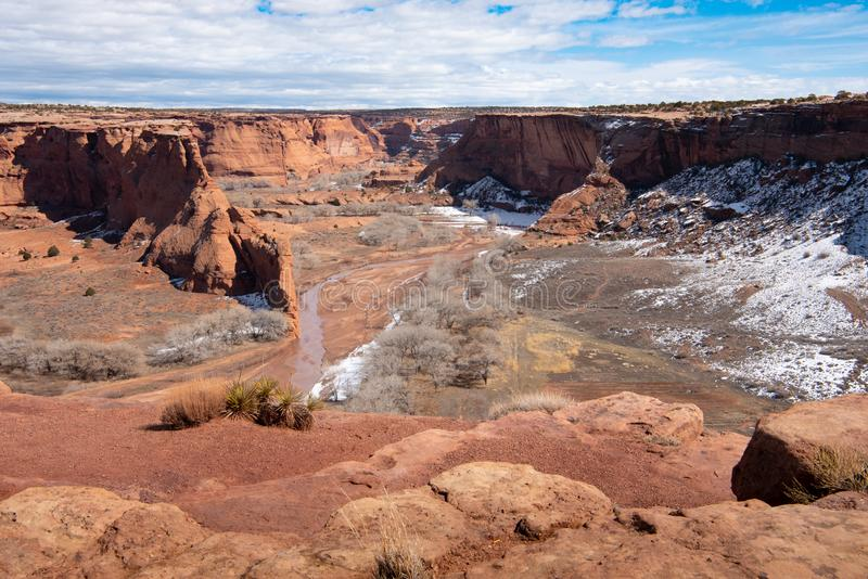 Monumento nacional o Arizona de Garganta de Chelly fotos de stock royalty free