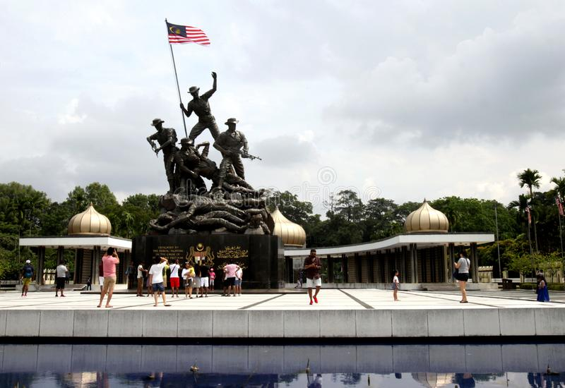 Monumento nacional ou ?Tugu Negara ?em Kuala Lumpur, Mal?sia foto de stock royalty free