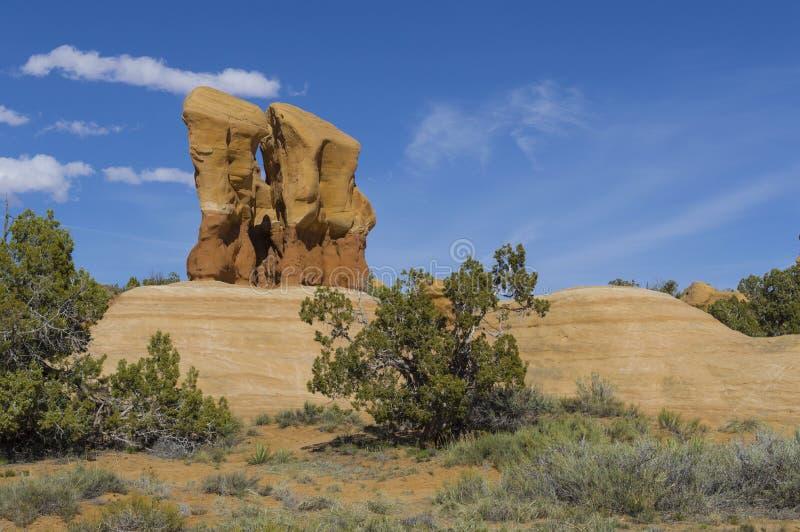 Monumento nacional Utah de la escalera magnífica de Escalante del jardín de los diablos fotografía de archivo