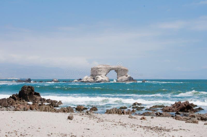 Monumento natural de Portada do La, o Chile imagens de stock royalty free