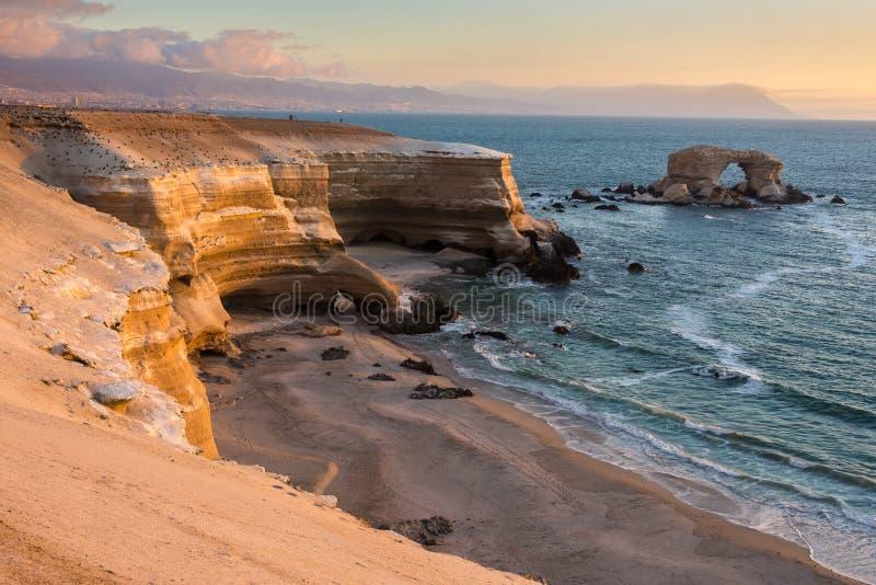 'Monumento naturale di Portada della La', Antofagasta (Cile) fotografia stock