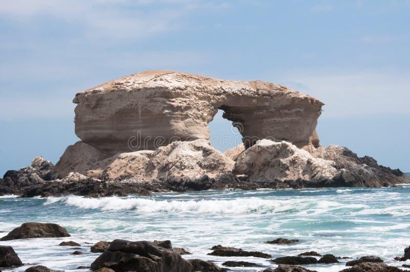 Monumento naturale di Portada della La, Cile fotografie stock