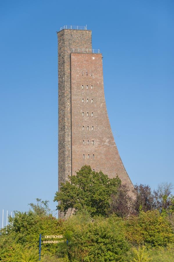 Monumento naval en Laboe foto de archivo
