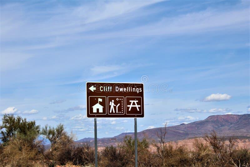 Monumento nazionale Cliff Dwellings, National Park Service, U di Tonto S Dipartimento dell'interno fotografia stock