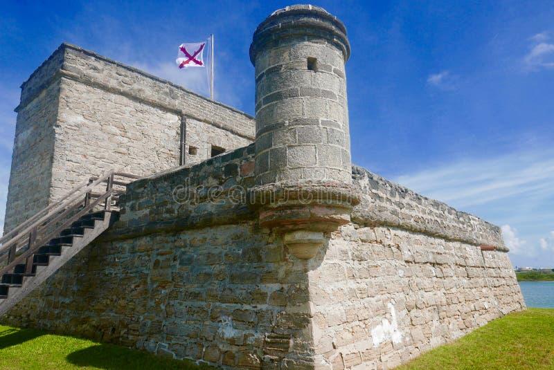 Monumento nazionale del Matanzas forte, St Augustine, FL, U.S.A. fotografia stock libera da diritti