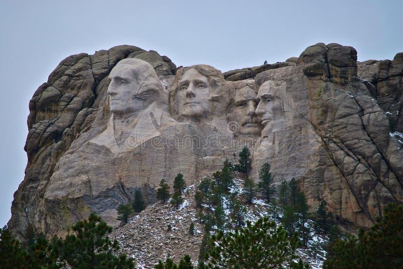 Monumento nazionale di Mt Rushmore fotografia stock libera da diritti
