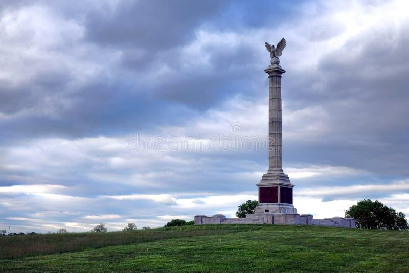 Monumento nazionale di New York del campo di battaglia di Antietam immagini stock libere da diritti