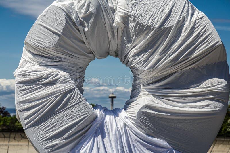 Monumento negro de Sun fotografía de archivo