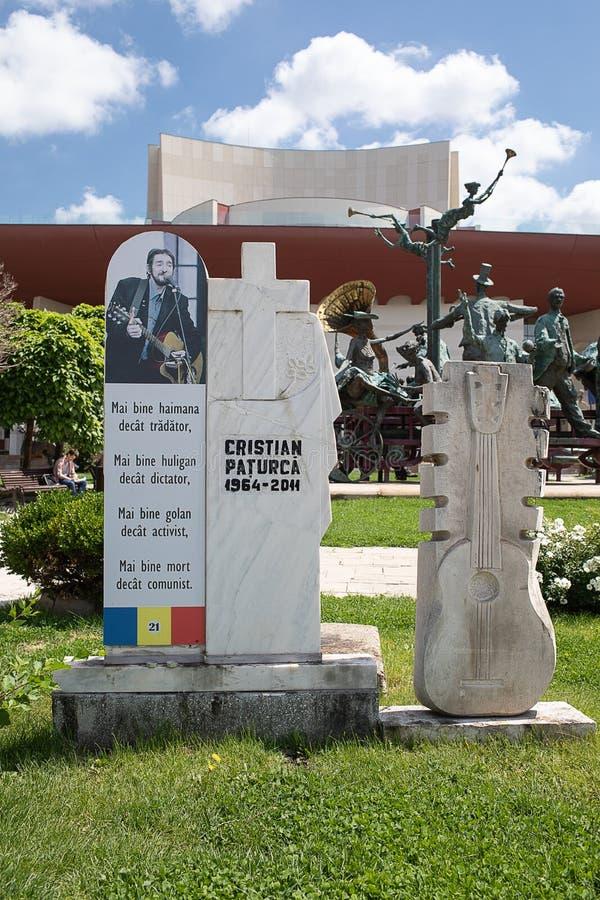 Monumento nel quadrato Bucarest dell'università fotografia stock