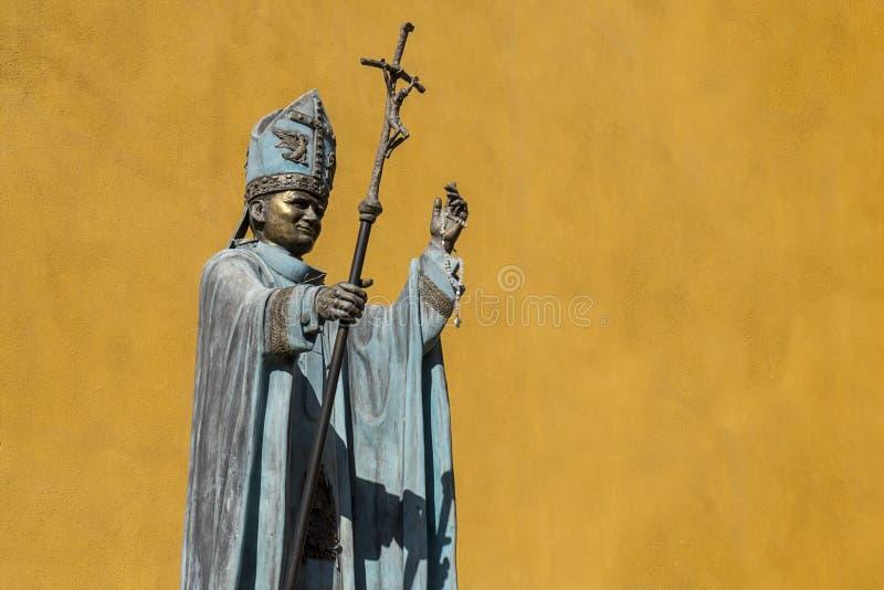 Monumento nell'omaggio a Papa Giovanni Paolo II nel Messico immagini stock libere da diritti
