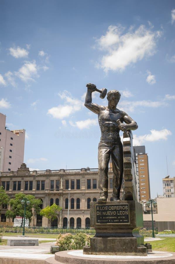 Monumento nella città di Monterrey fotografia stock libera da diritti