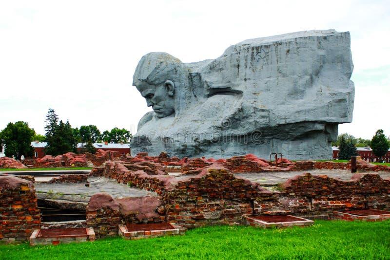 Monumento nella fortezza di Brest immagini stock libere da diritti