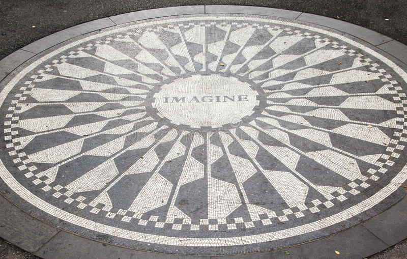Monumento New York City de Strawberry Fields imagen de archivo
