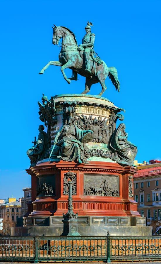 Monumento a Nicholas o primeiro fotografia de stock royalty free