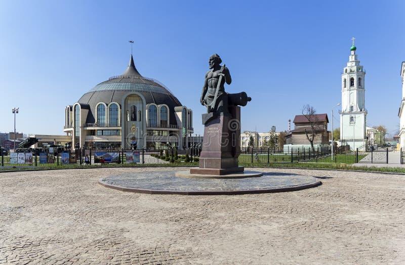 Monumento a Nikita Demidov, Tula, Rusia imagen de archivo