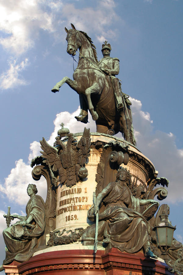 Monumento a Nikolay I imagen de archivo