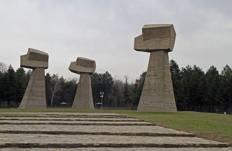 Monumento no local da execução em Nis, Sérvia fotos de stock