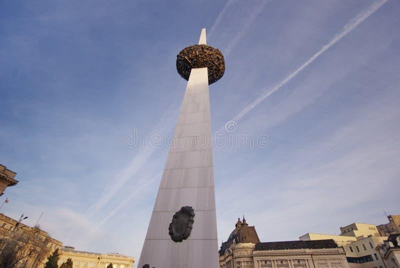 Monumento no quadrado da volta, Bucareste imagem de stock