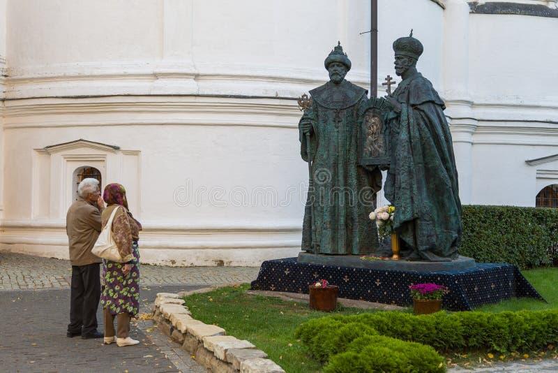 Monumento novo de Romanov no monastério de Novospassky fotos de stock royalty free