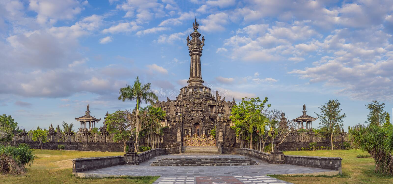 Monumento o Monumen Perjuangan Rakyat Bali, Denpasar, Bali, Indonesia de Bajra Sandhi foto de archivo libre de regalías