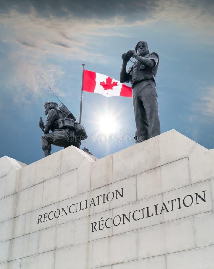Monumento Ottawa do Peacekeeping, Ontário, Canadá fotos de stock royalty free