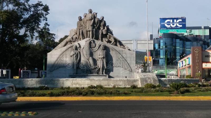 Monumento Pachuca Messico di indipendenza fotografie stock libere da diritti