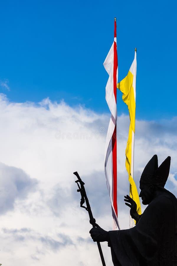 Monumento a papa Saint Juan Pablo II fotos de archivo libres de regalías