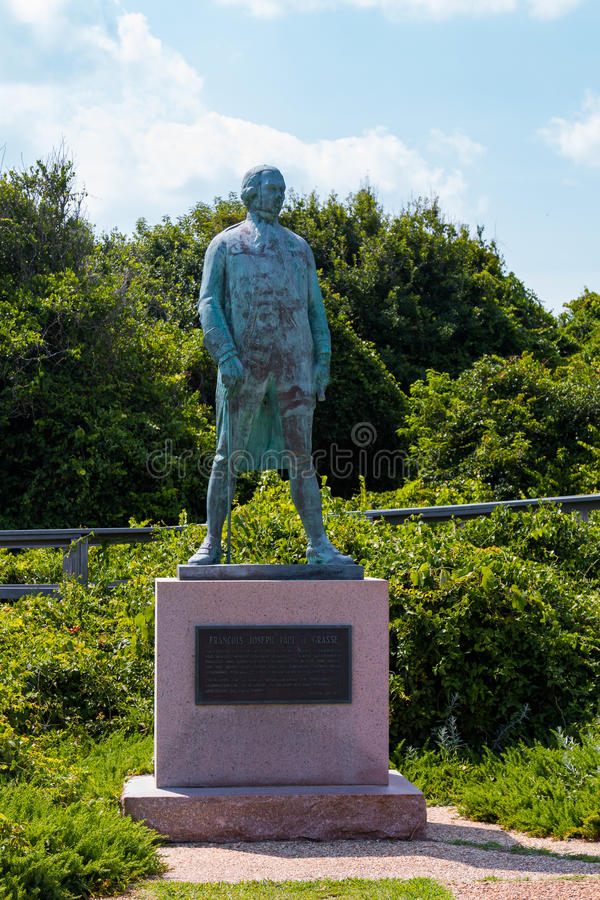 Monumento para almirante Francois de Grasse en Virginia Beach imagen de archivo