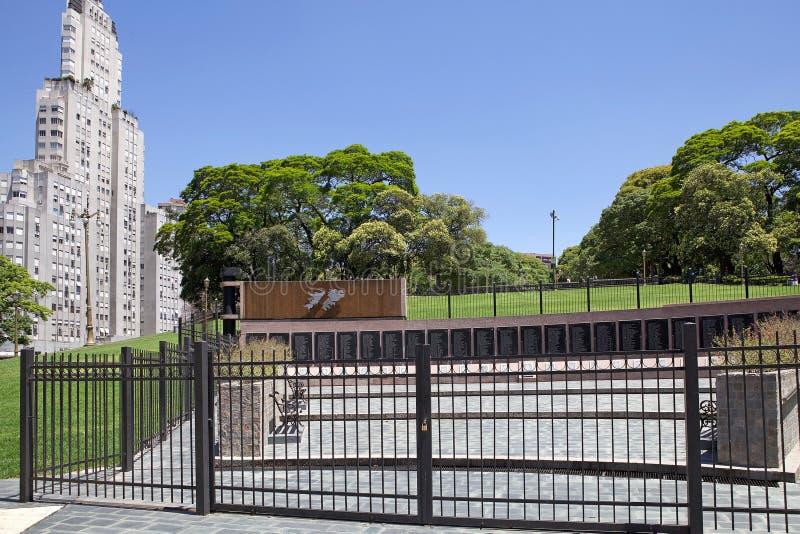 Monumento para caido en la Malvinas, Buenos Aires, la Argentina imagen de archivo libre de regalías