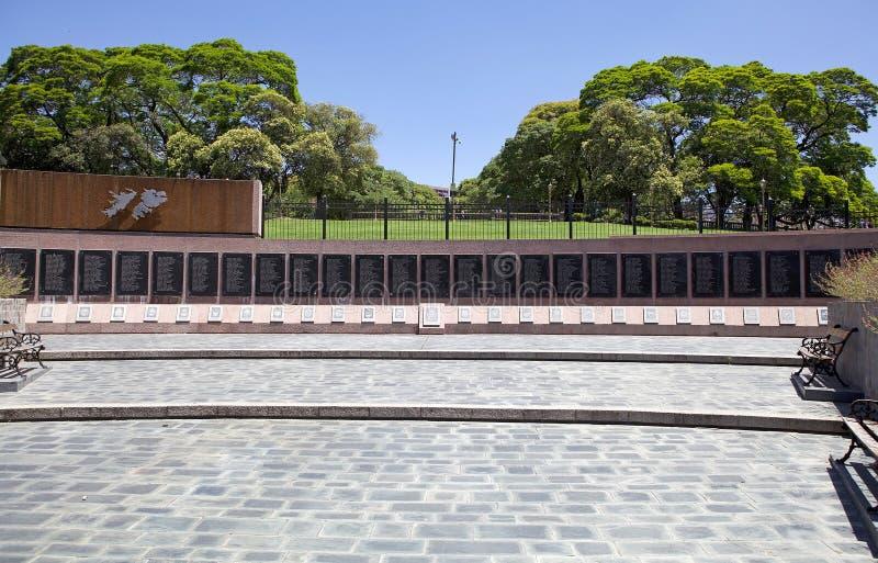 Monumento para caido en la Malvinas, Buenos Aires, la Argentina imágenes de archivo libres de regalías