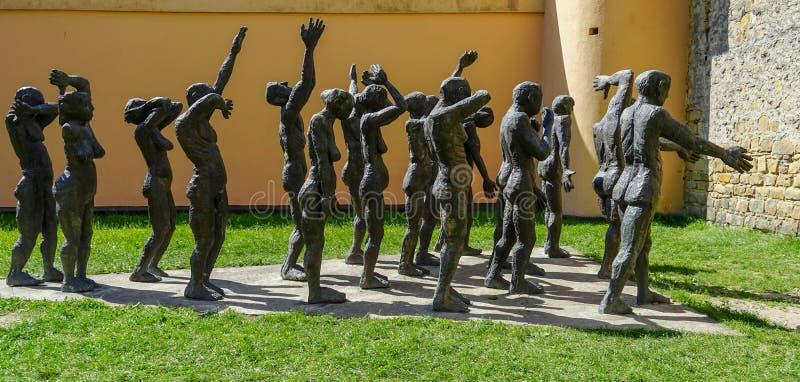 Monumento para las víctimas del comunismo en Sighet imagen de archivo libre de regalías