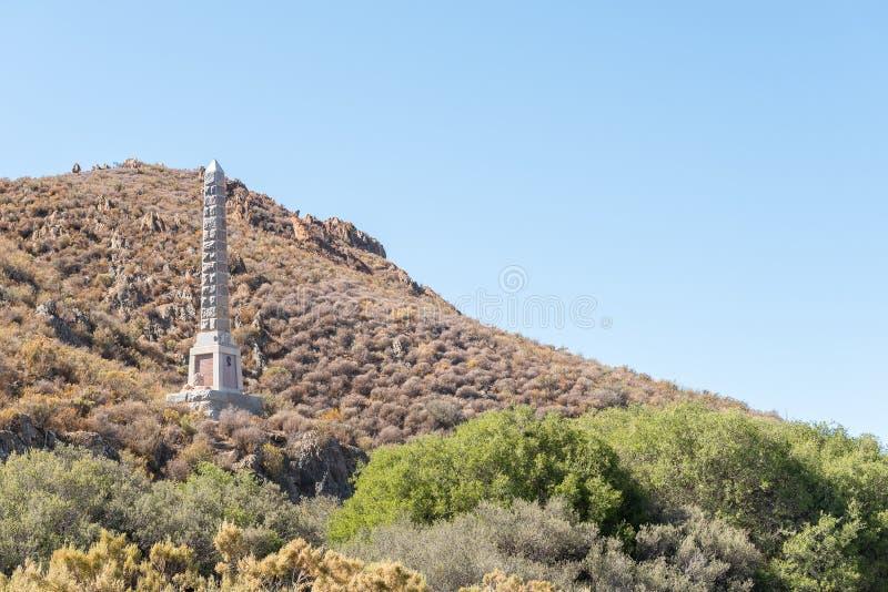 Monumento para Major General Andrew Wauchope cerca de Matjiesfontein fotos de archivo