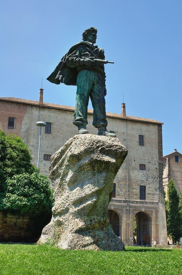 Monumento partisano. Parma. Emilia-Romagna. Italia. imagen de archivo