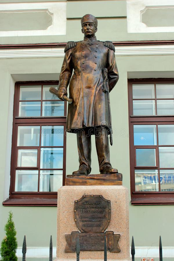 Monumento a Pavel Nakhimov imagem de stock royalty free