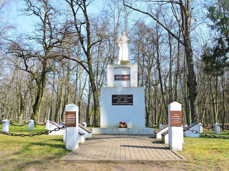 Monumento per i soldati sovietici, Lituania fotografie stock