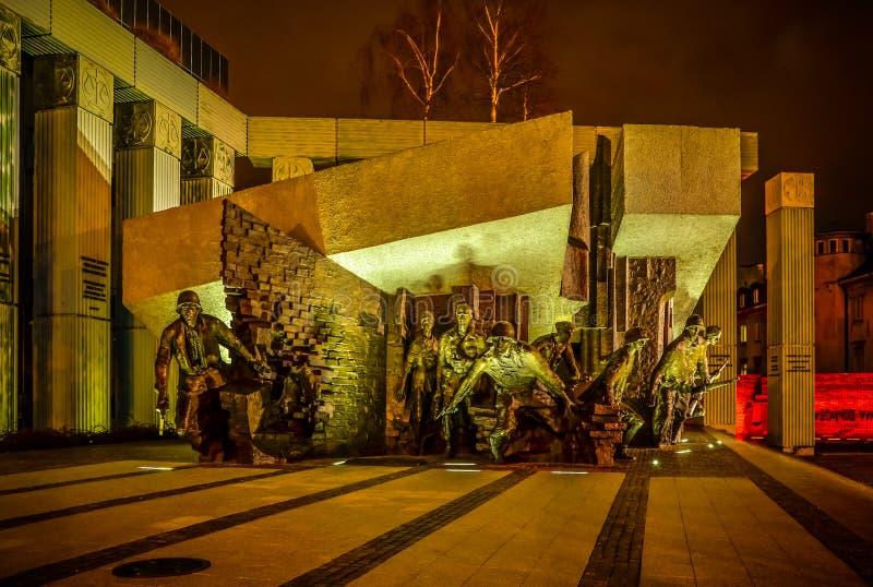 Monumento per lucidare la rivolta dei combattenti a Varsavia Polonia il 6 dicembre 2015 immagini stock