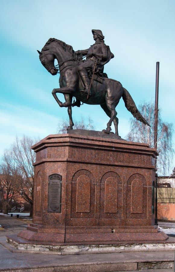 Monumento a Peter el grande - el fundador de Biysk imagen de archivo libre de regalías
